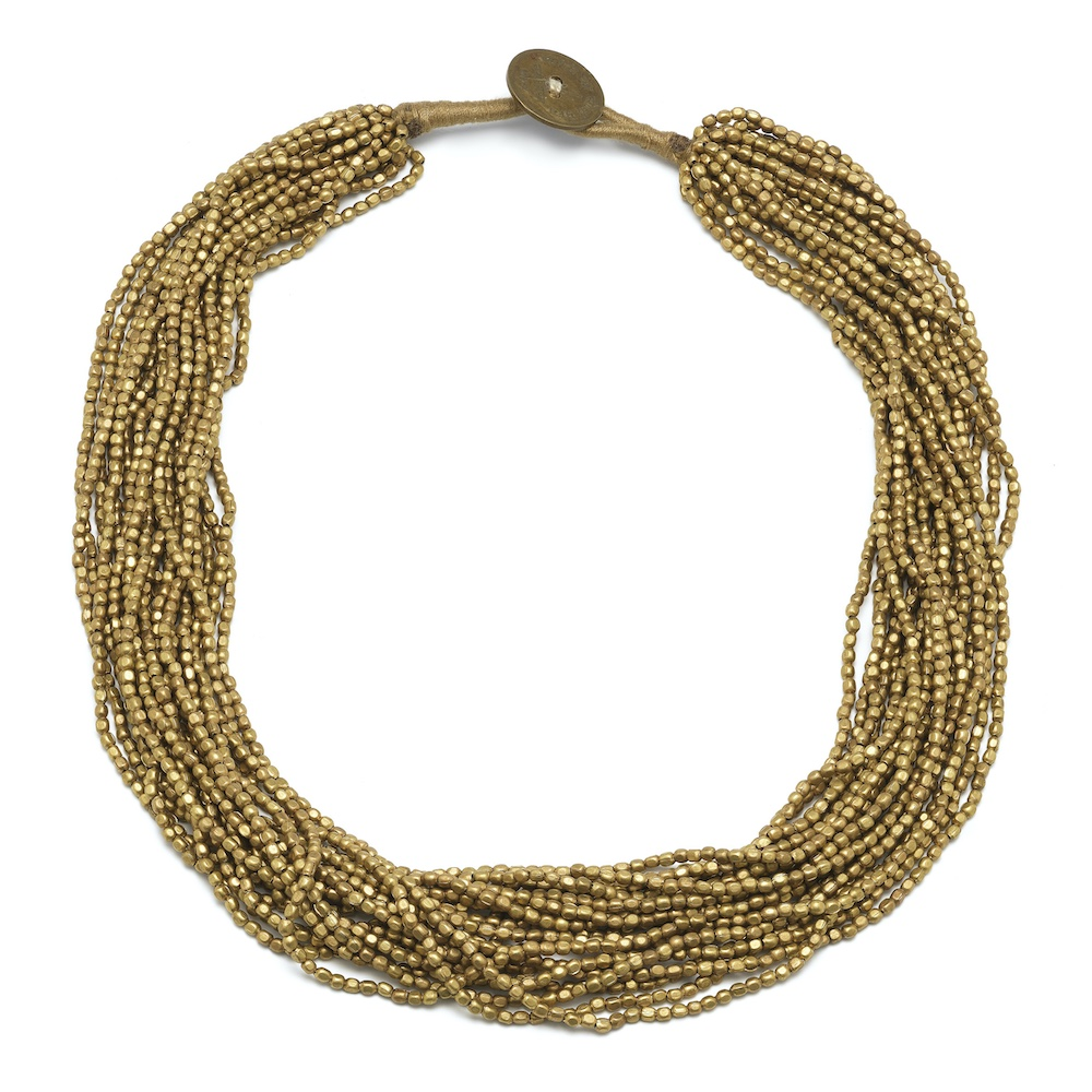 necklace collier brons bronze mini kralen seed beads