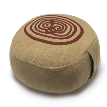 yoga poef pillow meditatie meditation khaki blockprint