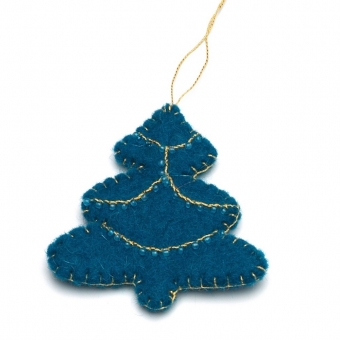 kerstdecoratie christmas decoration tree boom blue blauw