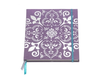 notitieboekje notebook handmade paper paars purple