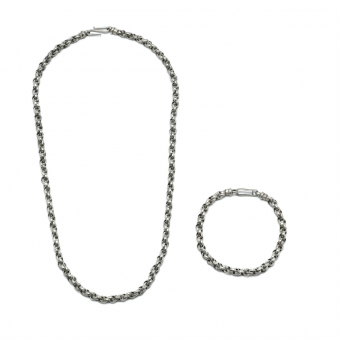 Schakelcollier & armband, rond