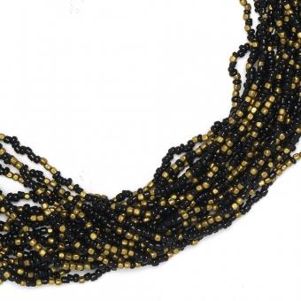 brons bronze mini kralen seed beads black zwart