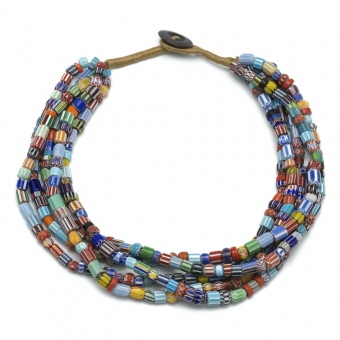 Collier necklace chevron kralen beads