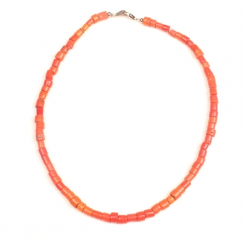 Collier Necklace orange naga glass beads glaskralen