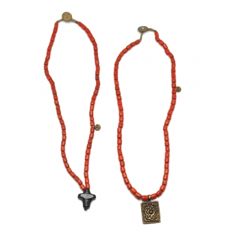 Ketting Naga glaskralen glass beads