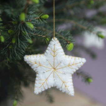 kerstdecoratie christmas decoration star ster wit white
