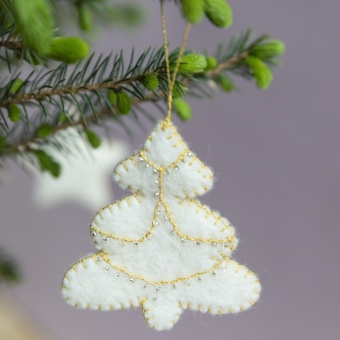 kerstdecoratie christmas decoration tree boom wit white