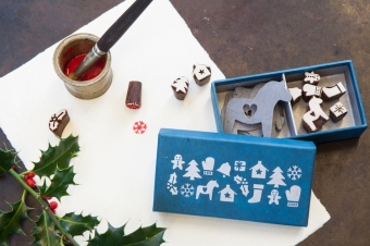 sfeerbeeld stampset giftset stamps gift tags